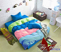 Двуспальное Евро постельное белье Color mix APT019