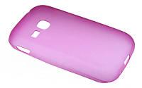 Силиконовый чехол для Samsung S6310 розовый Ultra slim 0.3 mm