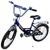 """Велосипед Марс 16"""" р.тормоз+эксцентрик сине-черный"""