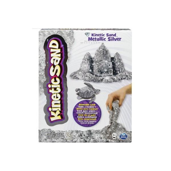 Kinetic Sand Кинетический песок для детского творчества METALLIC (сере