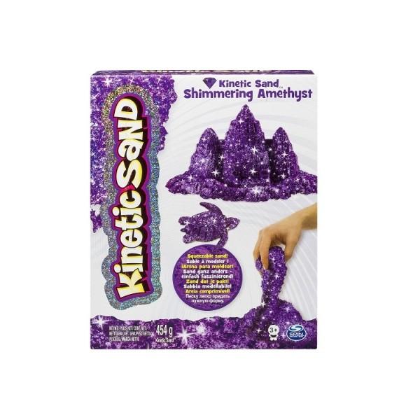 Kinetic Sand Кинетический песок для детского творчества METALLIC (фиолетовый, 454 г)