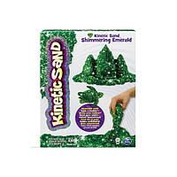 Kinetic Sand Кинетический песок для детского творчества METALLIC (зелёный, 454 г)