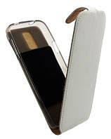 Чехол-книжка для Samsung S5 G900 B45 Лак белая кожа с силиконом