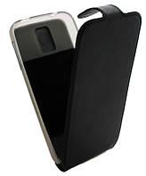 Чехол-книжка для Samsung S5 G900 B45 Classic черная кожа с силиконом