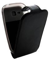 Чехол-книжка для Samsung S5292 B45 Classic черная кожа с силиконом