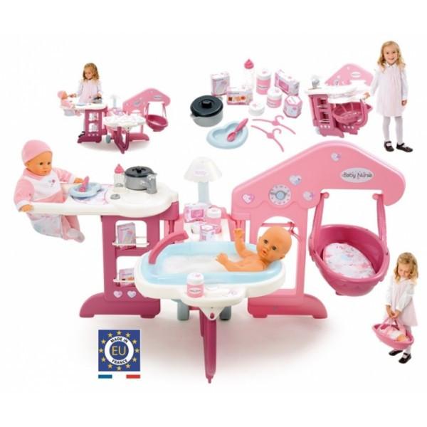 Большой центр по уходу за куклой Baby Nurse коляска, ванна, стульчик пр. Smoby