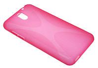 Силиконовый чехол для HTC Desire 610 розовый New Line