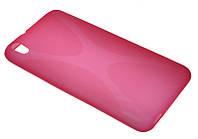 Силиконовый чехол для HTC Desire 800 (816) розовый New Line