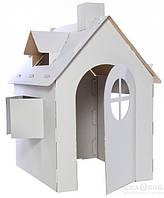 Детский домик из картона для игр и рисования