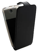 Чехол-книжка для Lenovo A630 B45 Classic черная кожа с силиконом