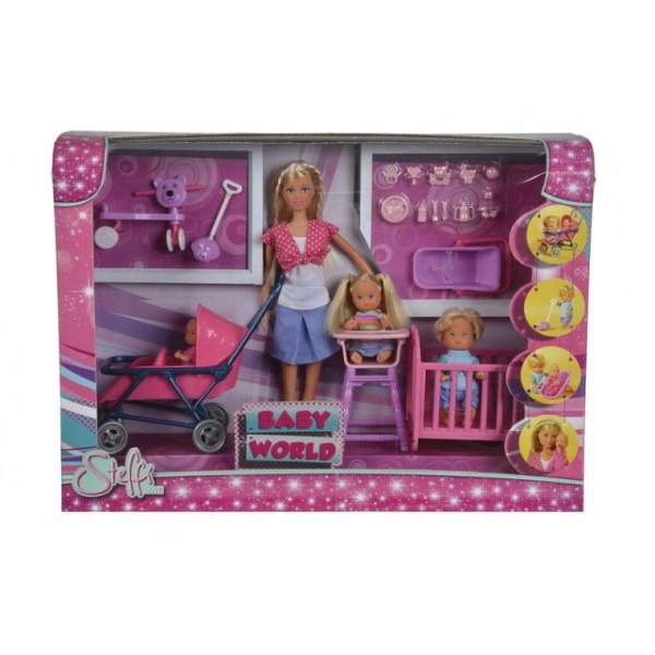 Кукольный набор Штеффи с детьми и аксессуарами
