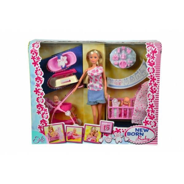 Кукольный набор Штеффи с младенцем и аксессуарами