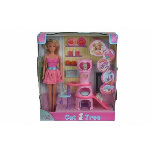 Кукольный набор Штеффи с домом для кошек и аксессуарами