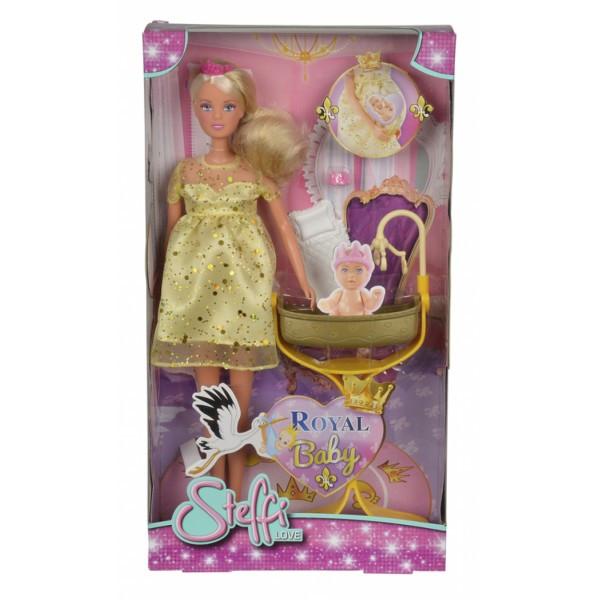 Кукла Штеффи-беременная с кроваткой для младенца