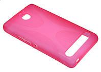 Силиконовый чехол для Sony D2105/Xperia E1 розовый New Line