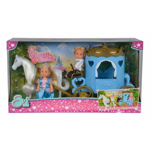Кукольный набор Эви и Тимми Карета принцессы с лошадью