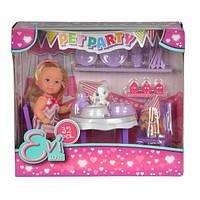 Кукольный набор Эви Вечеринка для домашних любимцев со сладостями и аксессуарами
