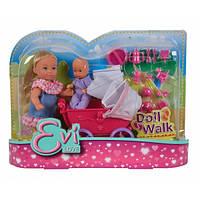 Кукла Эви с малышом в коляске 2 вида