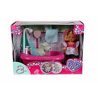 Кукла Эви и набор для купания собаку с функцией изменения цвета