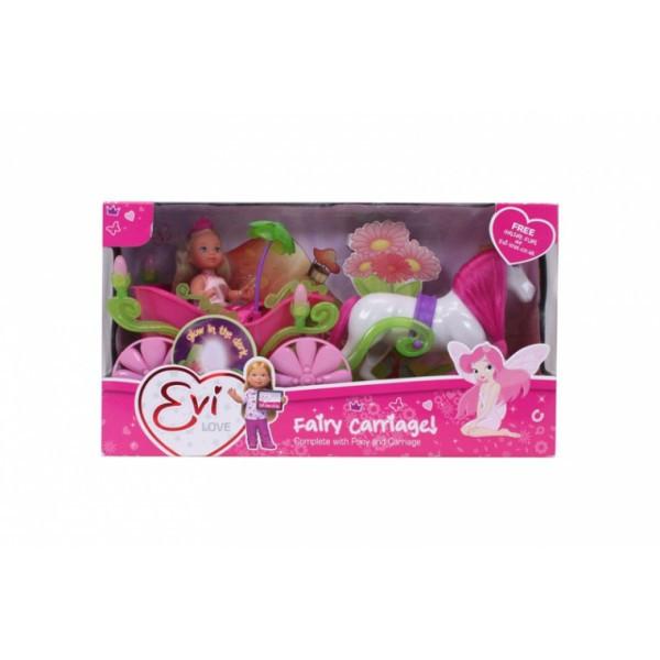Кукольный набор Эви и сказочная карета с лошадью