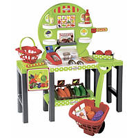 Продуктовый супермаркет Chef с корзинами и продуктами