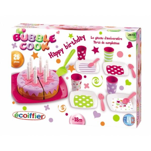 Набор посуды С Днем Рождения с тортом и с 26 аксессуарами