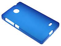 Силиконовый чехол для Nokia X синий