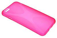 Силиконовый чехол для iPhone 6 розовый New Line