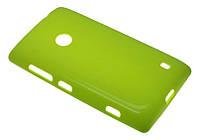 Силиконовый чехол для Nokia 520/525 зеленый