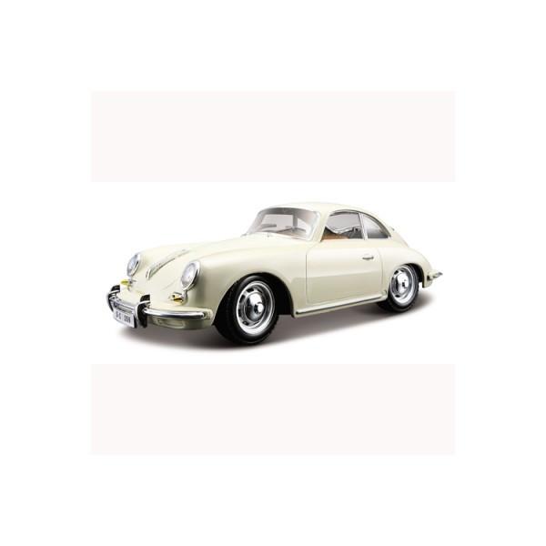 Автомодель PORSCHE 356В (1961) (ассорти слоновая кость, красный 1:24)