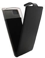 Чехол-книжка для Lenovo K920 B45 Classic черная кожа с силиконом
