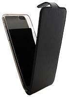 Чехол-книжка для iPhone 6G Plus B45 Classic черная кожа с силиконом