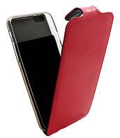 Чехол-книжка для iPhone 6G B45 Лак розовая кожа с силиконом