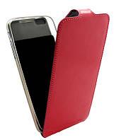 Чехол-книжка для iPhone 6G Plus B45 Лак розовая кожа с силиконом