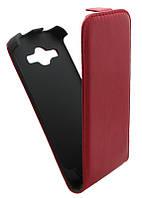 Чехол-книжка для Samsung G350 красная вертикальная