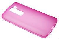 Силиконовый чехол для LG D618 розовый