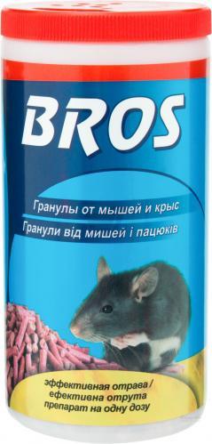 Родентицидний засіб BROS Гранули від мишей і пацюків 250гр