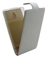 Чехол-книжка для Nokia X2 B45 Лак белая кожа с силиконом