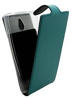 Чехол-книжка для Nokia X2 B45 Лак бирюзовая кожа с силиконом