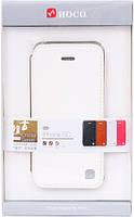 Чехол-книжка для iPhone 5C HOCO HI-L038 белая