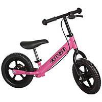 Беговел PROFI KIDS детский 12 дюймов M 3440АB-2 колеса EVA, пласт.обод, тормоз, эксцетрики, розовый