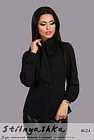 Черная блузка с бантом