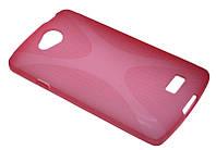 Силиконовый чехол для LG F60/D390 розовый New Line