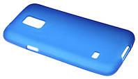Силиконовый чехол для Samsung G800 (S5 mini) синий