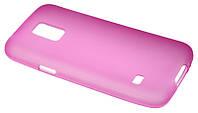 Силиконовый чехол для Samsung G800 (S5 mini) розовый