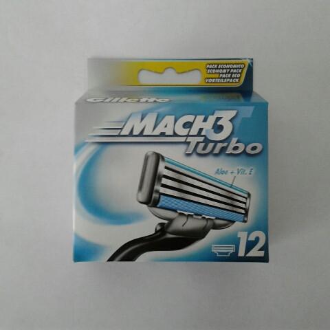 Кассеты для бритья мужские Gillette Mach 3 Turbo 12 шт ( Жиллет Мак 3 турбо оригинал)