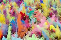 Краска Холи (Гулал), Фарба Холі для фестивалей, опт от 10 кг., фасовка 100 грамм, 10 пакетов с 1 кг.