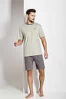 Пижама мужская 501 цвет морской волны 46р футболка и шорты Польша