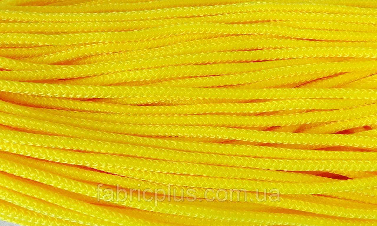Шнур  п/э  5 мм   ярко-желтый