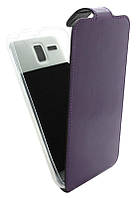 Чехол-книжка для Lenovo A8/A808 B45 Classic фиолетовая кожа с силиконом